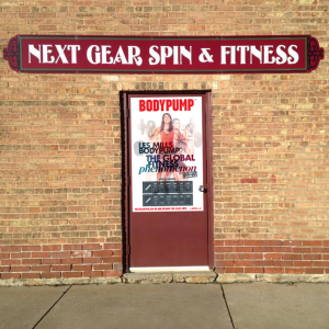 Next Gear Spin & Fitness Door Wrap