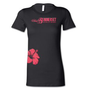 Summerset - Black w/Berry Flower